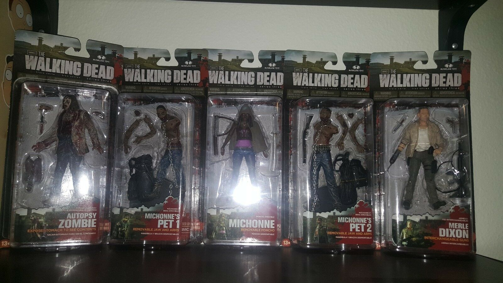 The Walking Dead McFarlane Action Figure Series 3 complete set