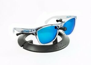 e65dae1b0ca Image is loading OAKLEY-FROGSKINS-CLEAR-BLUE-ICONS-FRAME-REVANT-ICE-