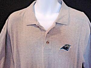 Carolina-Panthers-Knights-Athletics-Mens-XL-Embroidered-Logo-Gray-Logo-Shirt-XL