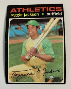 1971 Reggie Jackson # 20 Oakland Athletics A's Topps Baseball Card HOF