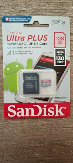 100MBs A1 U1 C10 Works with SanDisk SanDisk Ultra 128GB MicroSDXC Verified for Verykool Orbit s5012 by SanFlash