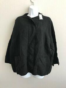 499-NWT-Woman-039-s-OSKA-Jacke-Talida-Black-Shirt-Size-4