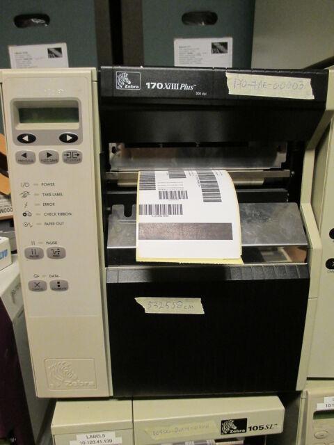 Zebra 170XiIII PLUS 170-7AE-00003 Thermal Barcode Label Printer USB 532558 CM