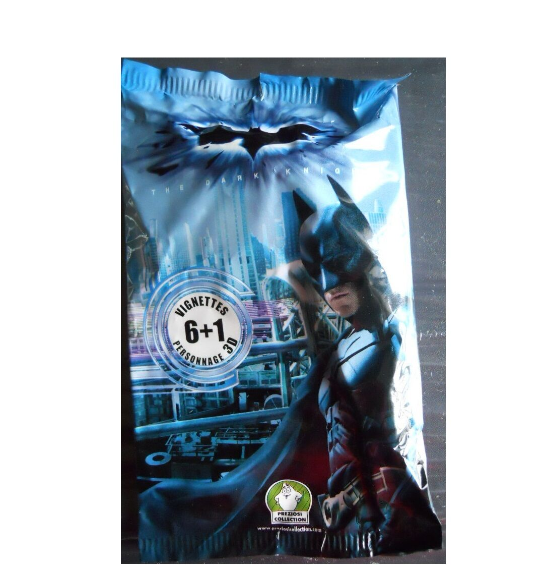 Lotto 20 bustine batman 3d - pvc - dc - helden 2008 + 6 vignetten + 1 personaggio 3d