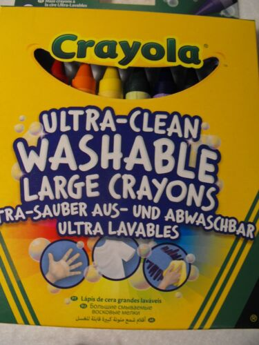 Crayola Coloured colouring Crayons 2 PACKS OF KIDS TODDLERS WASHABLE CRAYONS