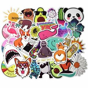 50x-Laptop-Skateboard-Stickers-Luggage-Car-Bicycle-Guitar-Decals-Sticker-Hot