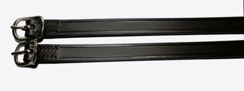 Exselle Deluxe Spur Straps English Leather for Riding Showing Black or Brown