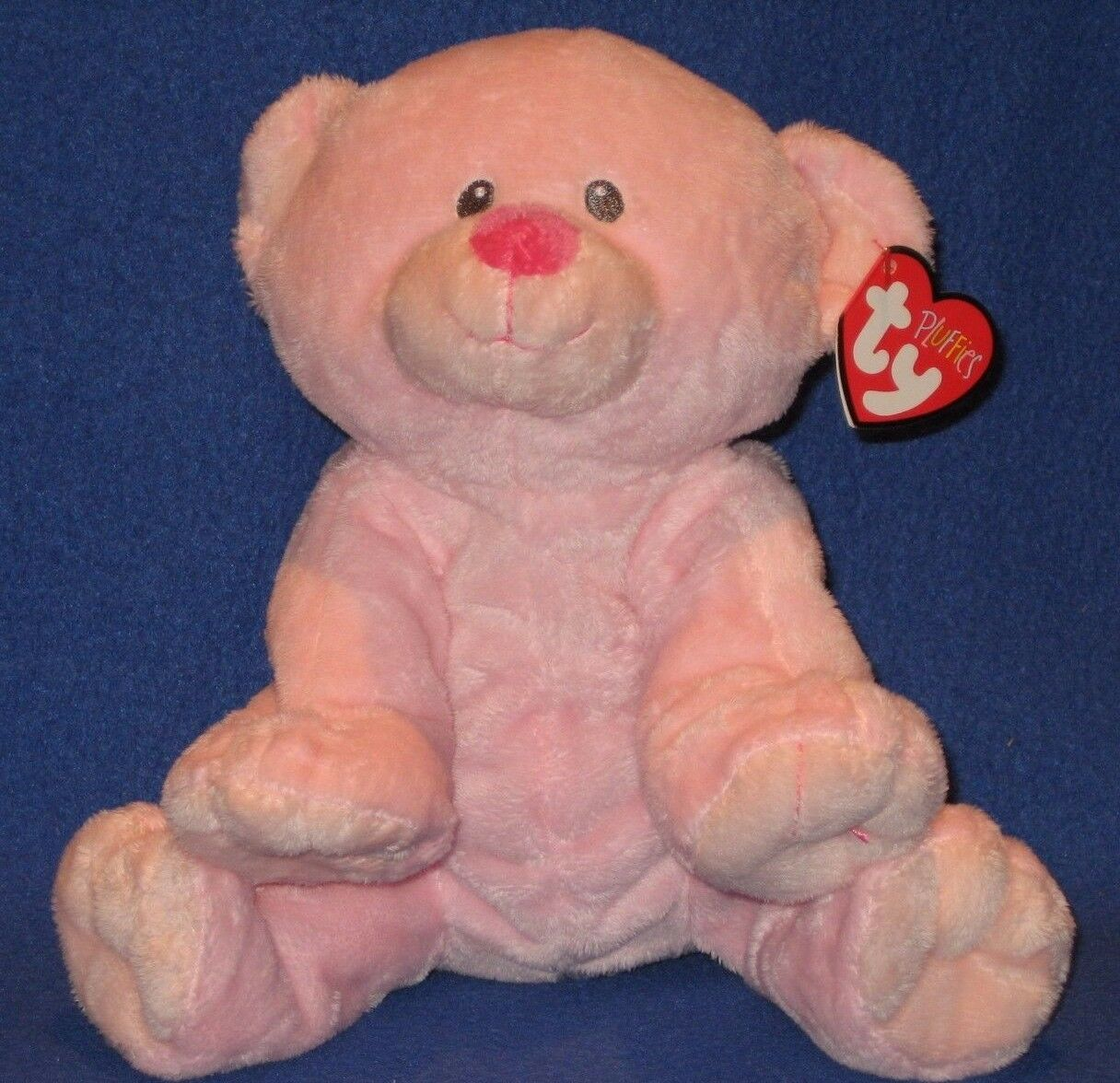TY BABY WOODS PINK the BEAR PLUFFIES - MINT with MINT TAG