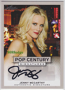 2013-LEAF-POP-CENTURY-AUTO-JENNY-McCARTHY-5-25-AUTOGRAPH-PLAYMATE-OF-THE-YEAR