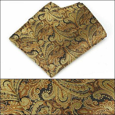 100/% Silk Orange Red Paisley Handkerchief Pocket Square Hankie Hanky Wedding