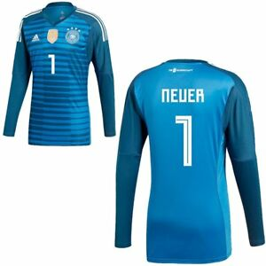 ae37da0b1 Adidas Mens Kids DFB Germany World Cup 2018 Home Goalkeeper Jersey ...