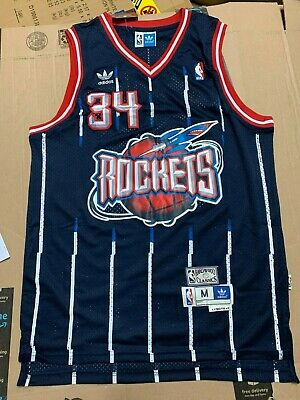 Hakeem Olajuwon Sportswear Top Unisex Sleeveless Embroidered Mesh Basketball Swingman Jersey Can be Washed Repeatedly Houston Rockets #34 Men/'s Basketball Jersey