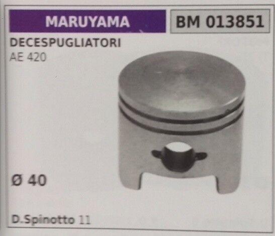 PISTONE COMPLETO DI SEGMENTI E SPIN DECESPUGLIATORE MARUYAMA AE420 Ø 40