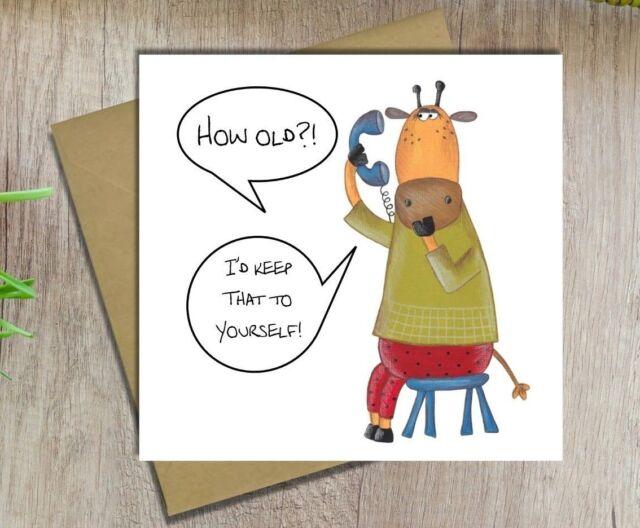 Birthday Card Funny Fun Male Female Sister Brother Dad Mum Husband Wife Friend