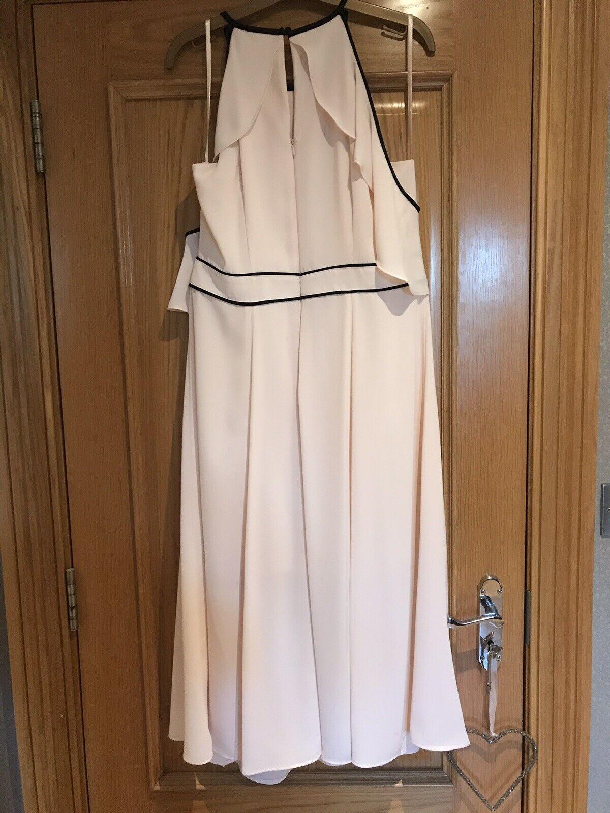 COAST Victoria Soft Blaush Robe longue Größe 16 neuf avec étiquettes