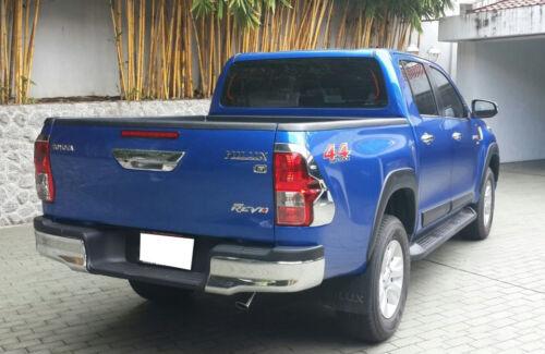 FITT Chrome Line Tailgate Tail Gate Brake Cover Fit Toyota Hilux Revo Sr5 2016