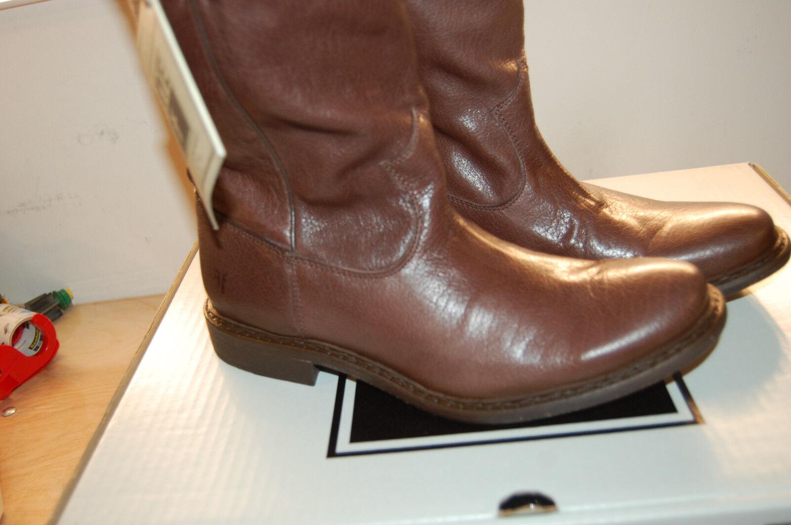 Nuevas En Caja botas De Cuero Frye Marco Roper  7.5 M marrón oscuro Goodyear Welted