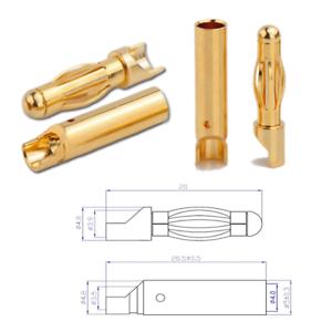 4mm-4-0mm-Stecker-Goldstecker-Goldkontakt-Bananenstecker-Buchse-Lipo-Motor-ESC-4