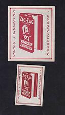 Ancienne étiquette allumettes  Belgique  BN7636 Zig  Zag Papier cigarette Zouave