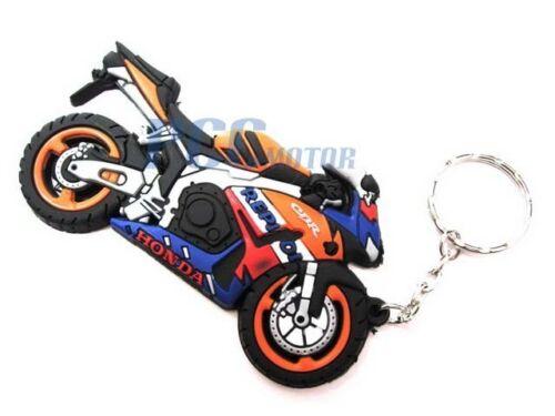 Rubber KeyChain Key Chain Ring Street Bike Motorcycle for HONDA 9 KC03