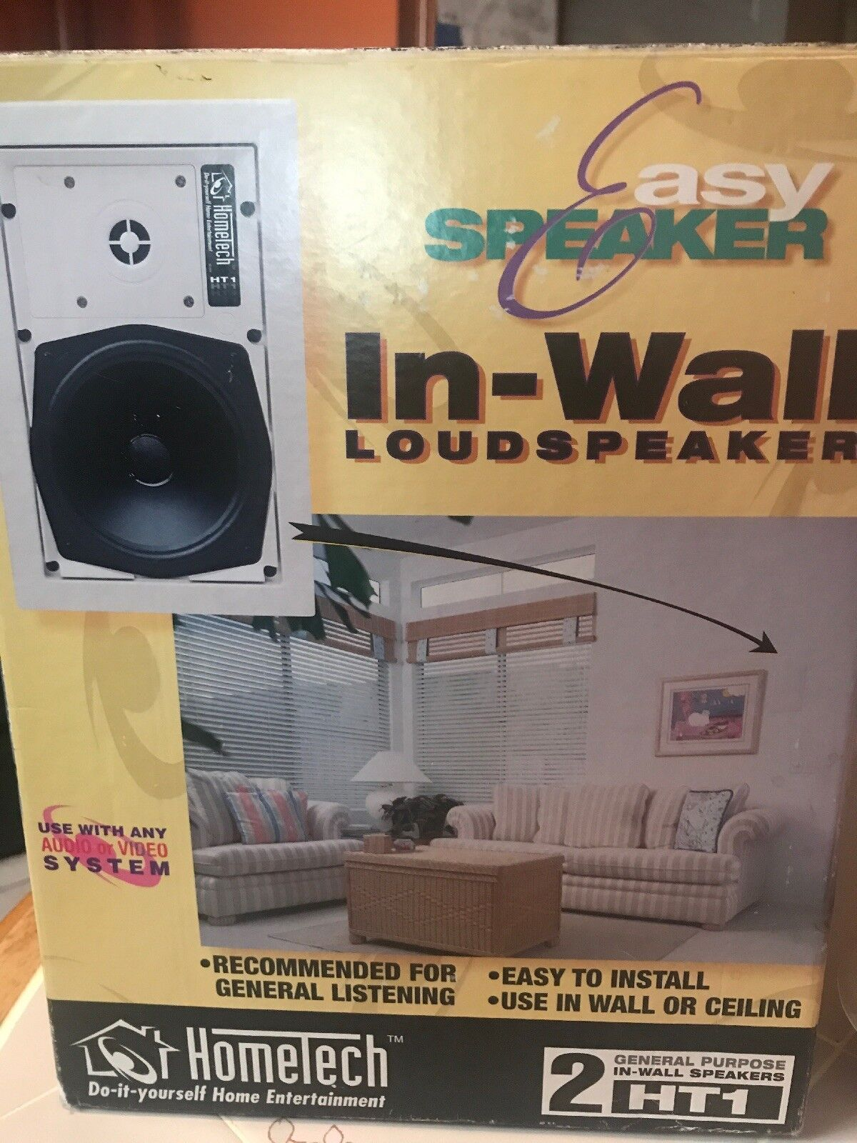Hometech By Sonance Easy In-Wall Speakers