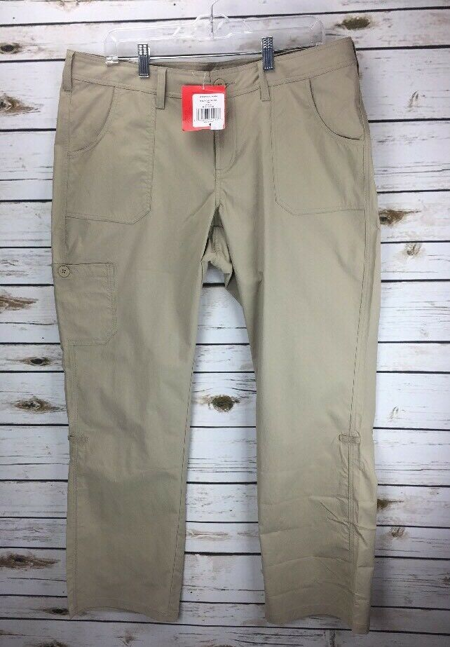 NEW The North Face Mapleton Women's Pant NWT Flax Beige Tan Roll Up Pants Sz 16R