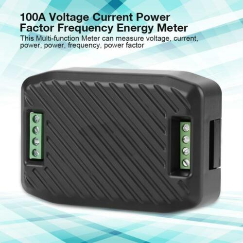 PEACEFAIR 100A Meter Voltage Current Power Factor Frequency Energy Tester DY9