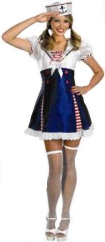 AHOY MATEY SEXY SAILOR GIRL FANCY DRESS HEN PARTY 10-12 2462-T