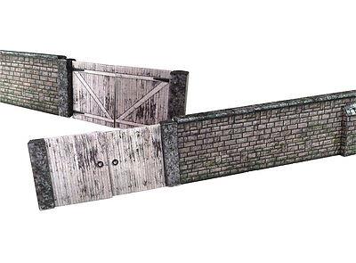 6ft Holz streckenseitiger zaun Karte set OO-Messgerät Hornby Modelleisenbahn