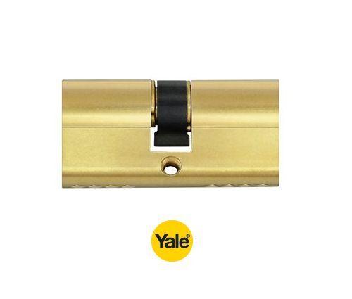 Enfiler Double Laiton Poli Cylindre Profilé De Yale 210 MM.45 C 22,5+22,5