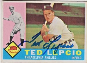 Ted-Lepcio-97-signed-autograph-auto-1960-Topps-Baseball-Trading-Card-Tigers