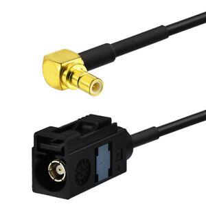 DAB-Antennenadapter-FAKRA-Buchse-typ-A-SMB-Buchse-bis-6m-Digitalradio-Kabel
