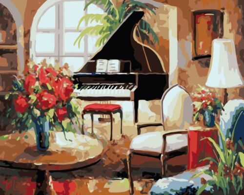People DIY Paint By Number Kit Acrylic Oil Painting Scenery Animals Flowers