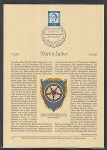 DE-95-Berlin-herrlicher-Privat-ETB-1961-Bedeutende-Deutsche-Martin-Luther