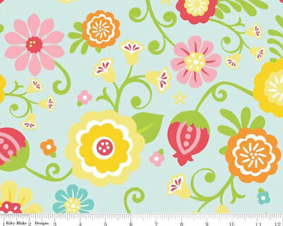 Simply Sweet floral fabric material Riley Blake C3466 C3460 UK FQs Lori Whitlock