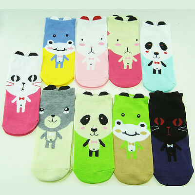 Ladies Funny Novelty Ankle Socks Girls Animal Kawaii Cartoon Socks Size UK 3-6