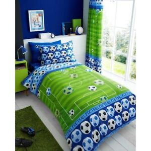 But-Football-Housse-Couette-Simple-amp-Set-Taie-D-039-Oreiller-Bleu-Literie-Enfants