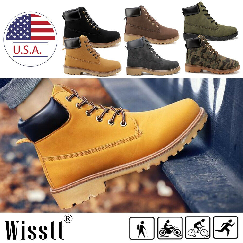 Men's Winter Snow Work Shoes Waterproof Leather Outdoor Martin Boots Ankle Shoes