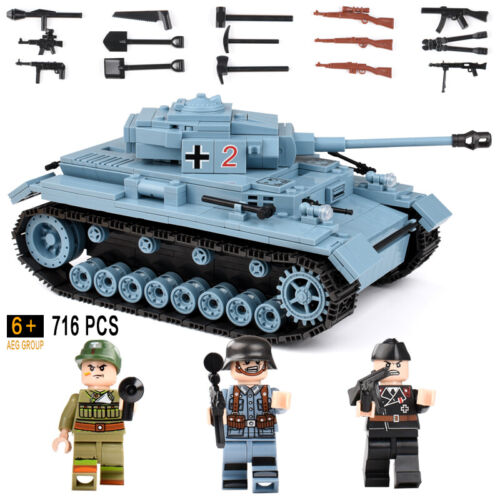 716+pcs Military German King Tiger Tank Building Blocks Compatible   Bricks