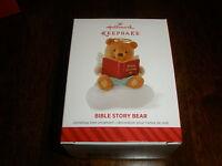 Super Cute Hallmark Christmas Ornament bible Story Bear 2014-t6070