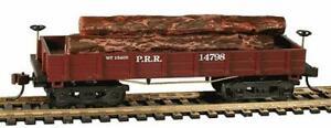 HO-Scale-Wooden-Vintage-1860-P-R-R-Log-Car-Mantua-455-724020