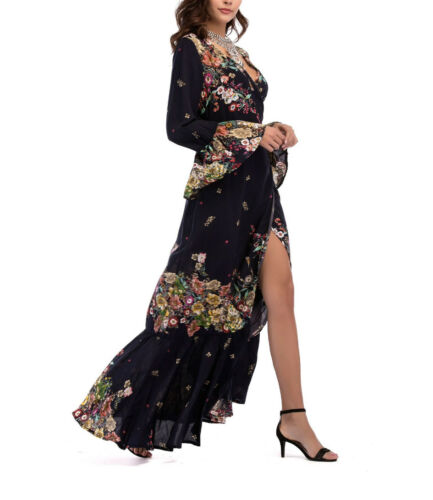 Dress 110351 Woman Donna Lungo P Maxi Spring Vestito Copricostume Flowers U0vnwq