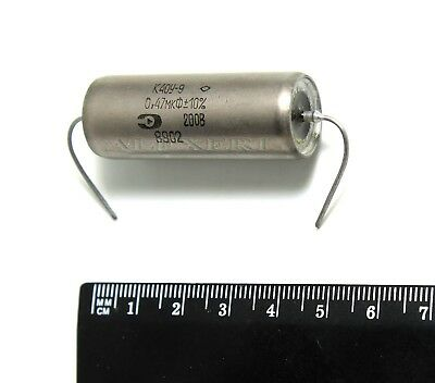 18x K40Y-9 0.47uF 200V PIO Paper in Oil Capacitors NOS