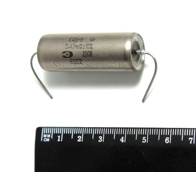 6 pcs 0.47uF 0,47uF .47uF 200V K40Y-9 PIO Paper in Oil Capacitors NEW NOS