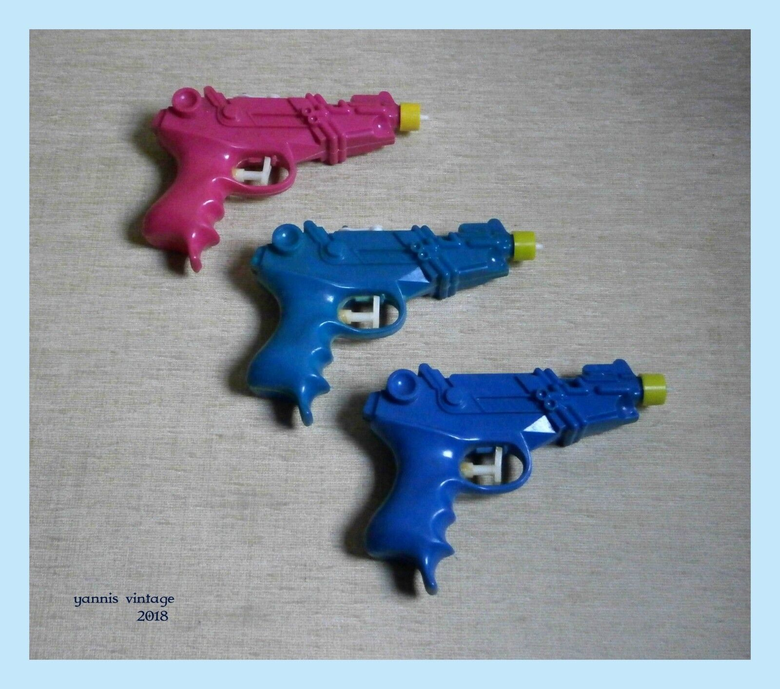 JET PISTOL - K5 SPACE WATER TOY GUN LOTX3 New GREECE BIOTSIOT GREEK PLASTIC RARE