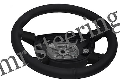 FITS FORD RANGER MK1 99-03 REAL BLACK ITALIAN LEATHER STEERING WHEEL COVER NEW