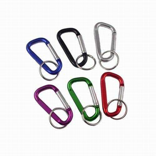 Lot of 100 Pieces -2.5″ Aluminum Carabiner Spring Clip Keychains-Assorted colors