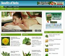 Herbs Benefits Ready Made Blog Established Profitable Turnkey Website For Sale