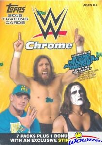 2015-Topps-CHROME-WWE-EXCLUSIVE-Factory-Sealed-Blaster-Box-Tough-to-Find-HOT