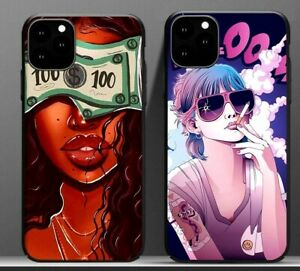 Fashion Afro Black Girl Money Girls Phone Case Cover For Iphone 11